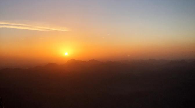 西奈山的日出
